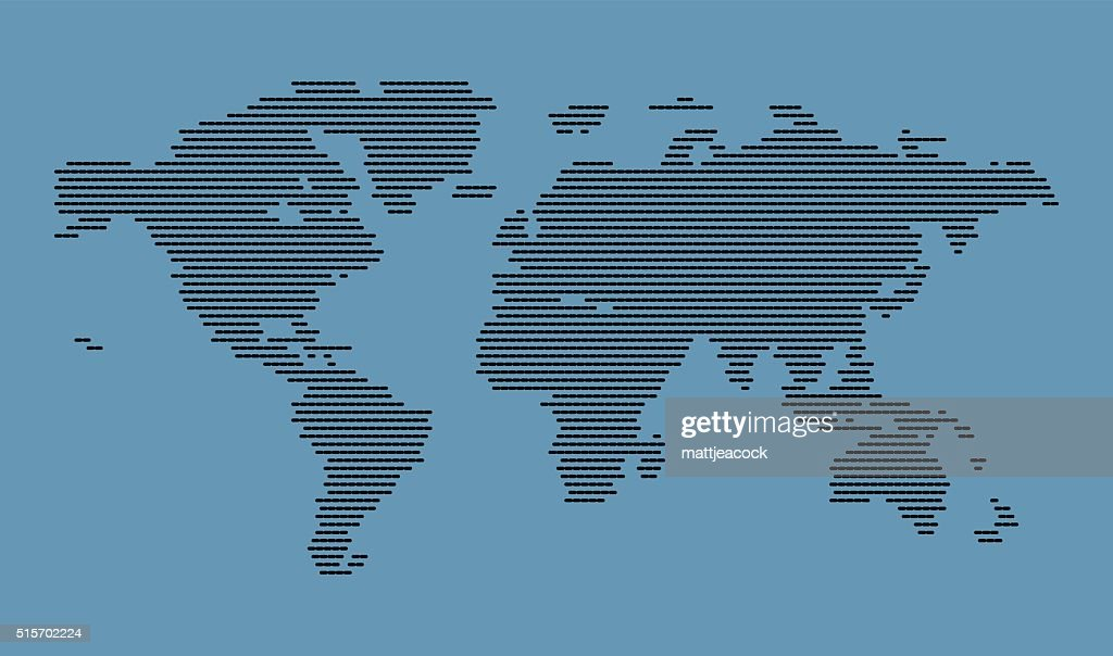Halftone world map vector art getty images halftone world map vector art gumiabroncs Image collections