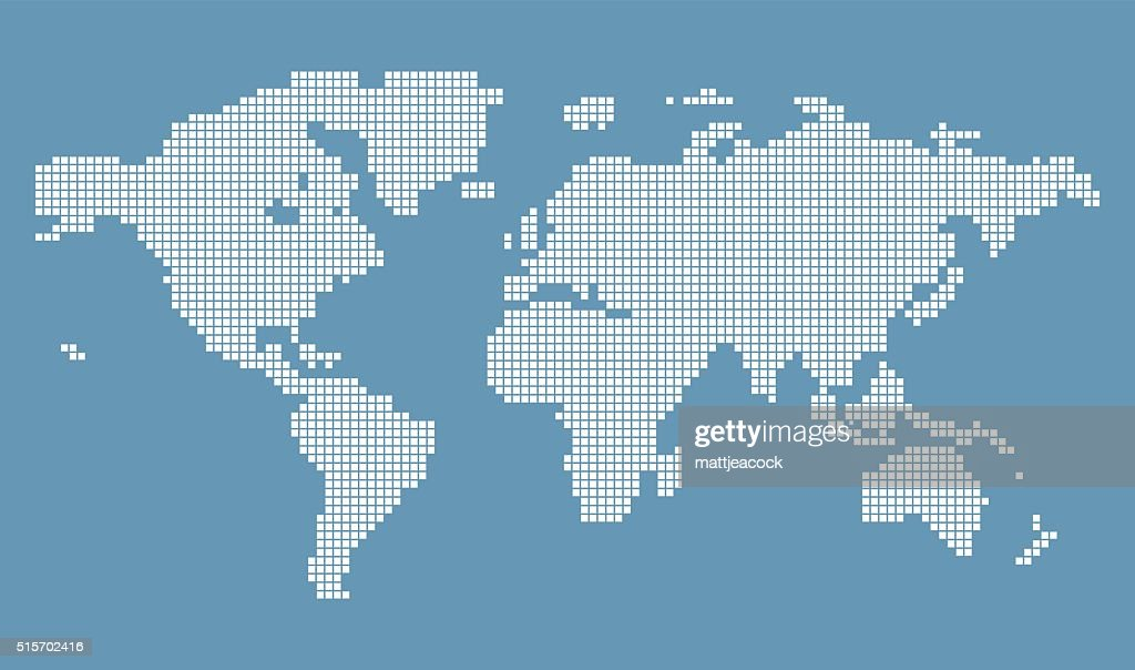 Halftone world map vector art getty images halftone world map vector art gumiabroncs Gallery