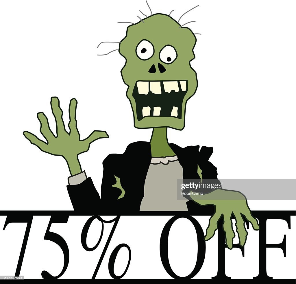 Halloween 75% Off Zombie : stock illustration