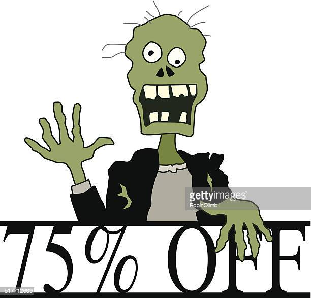 halloween 75% off zombie - number 75 stock illustrations, clip art, cartoons, & icons