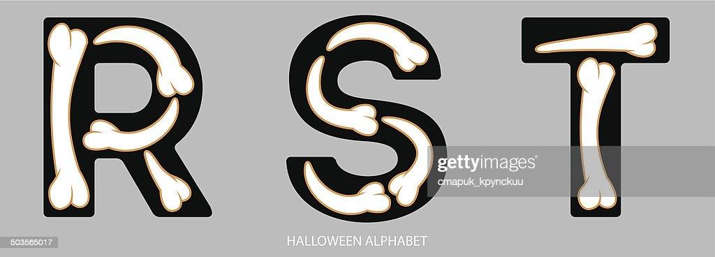 Halloween Alphabet Buchstaben Rst Vektorgrafik | Getty Images