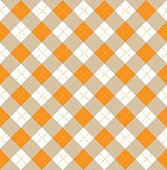 Halloween Argyle Seamless Pattern