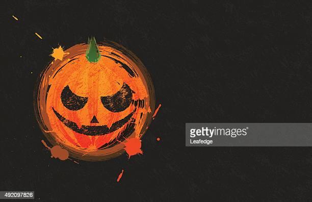 halloween background [jack o' lantern brush painting] - entusiástico stock illustrations