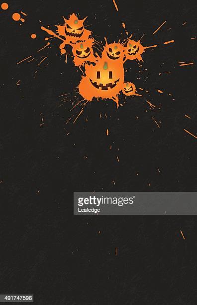 halloween background [jack o' lantern droplet] - entusiástico stock illustrations