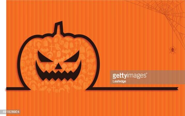 halloween background [jack o' lantern ribbon] - entusiástico stock illustrations