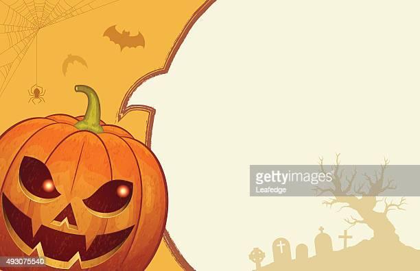 halloween background [jack o' lantern talking] - entusiástico stock illustrations