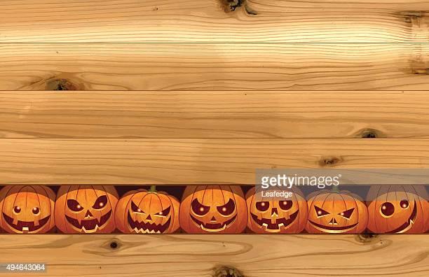 halloween background [pumpkin to peek] - halloween wallpaper stock illustrations