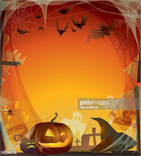halloween background - halloween wallpaper stock illustrations