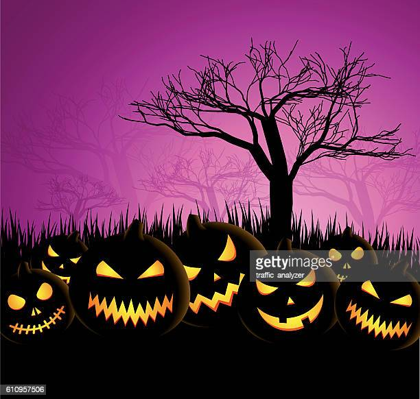 halloween background - jack o lantern stock illustrations, clip art, cartoons, & icons