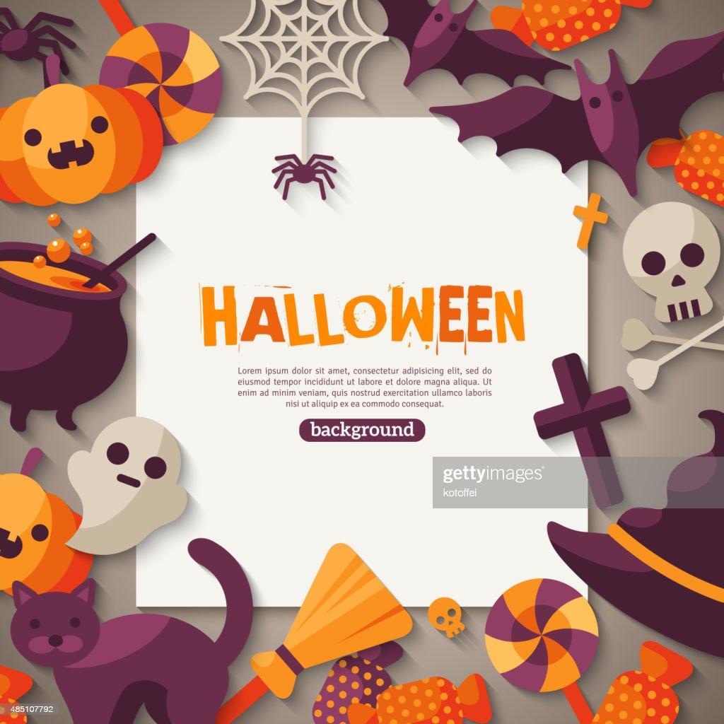 Halloween Background. Vector Illustration.