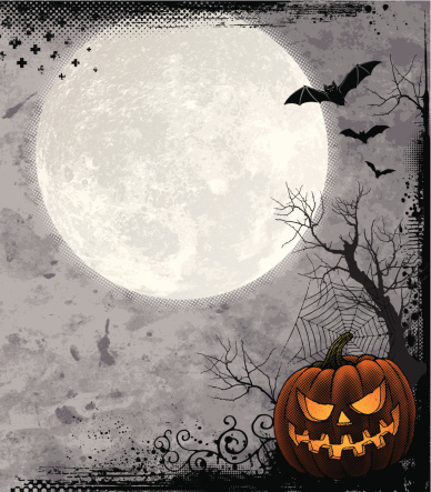 Halloween Background with Full Moon - gettyimageskorea