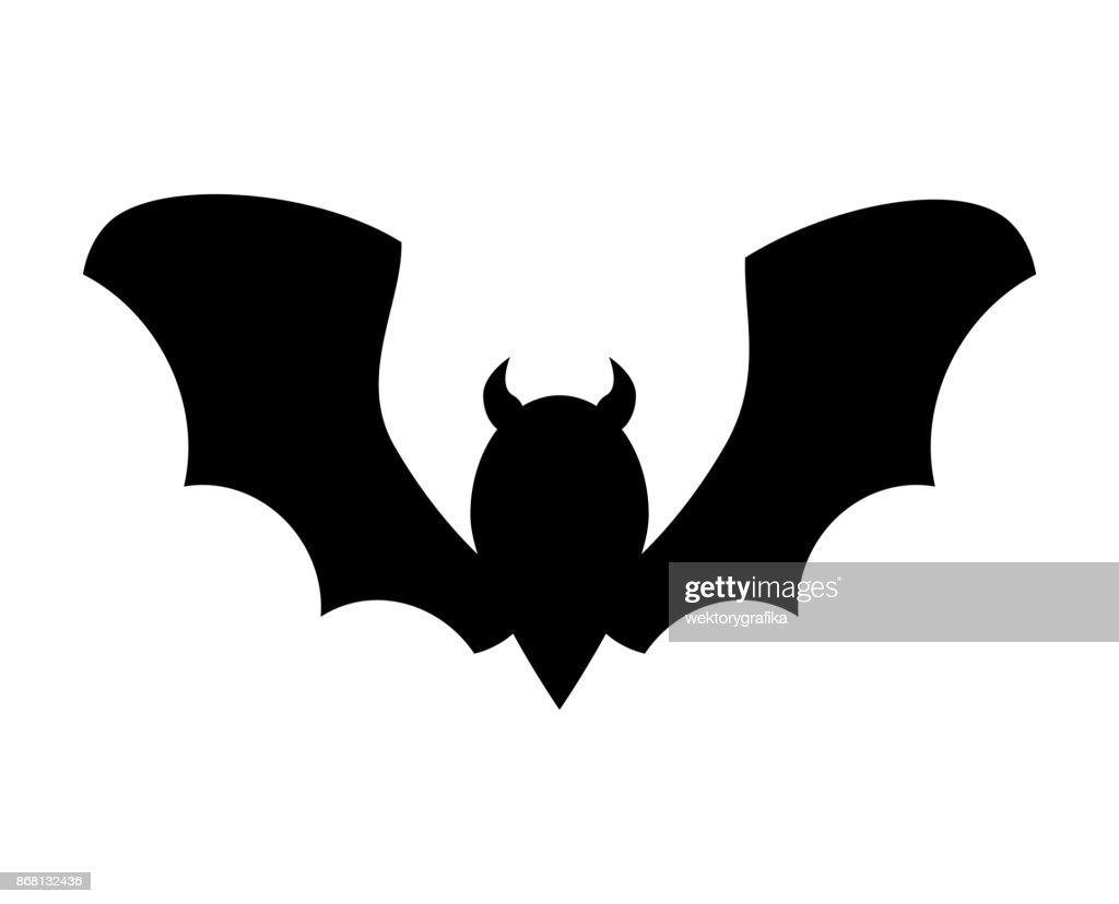 halloween bat silhouette vector design isolated on white background vector art