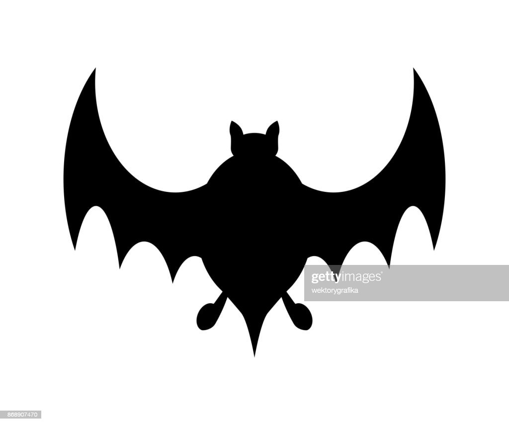 halloween bat silhouette vector design isolated on white background vector art