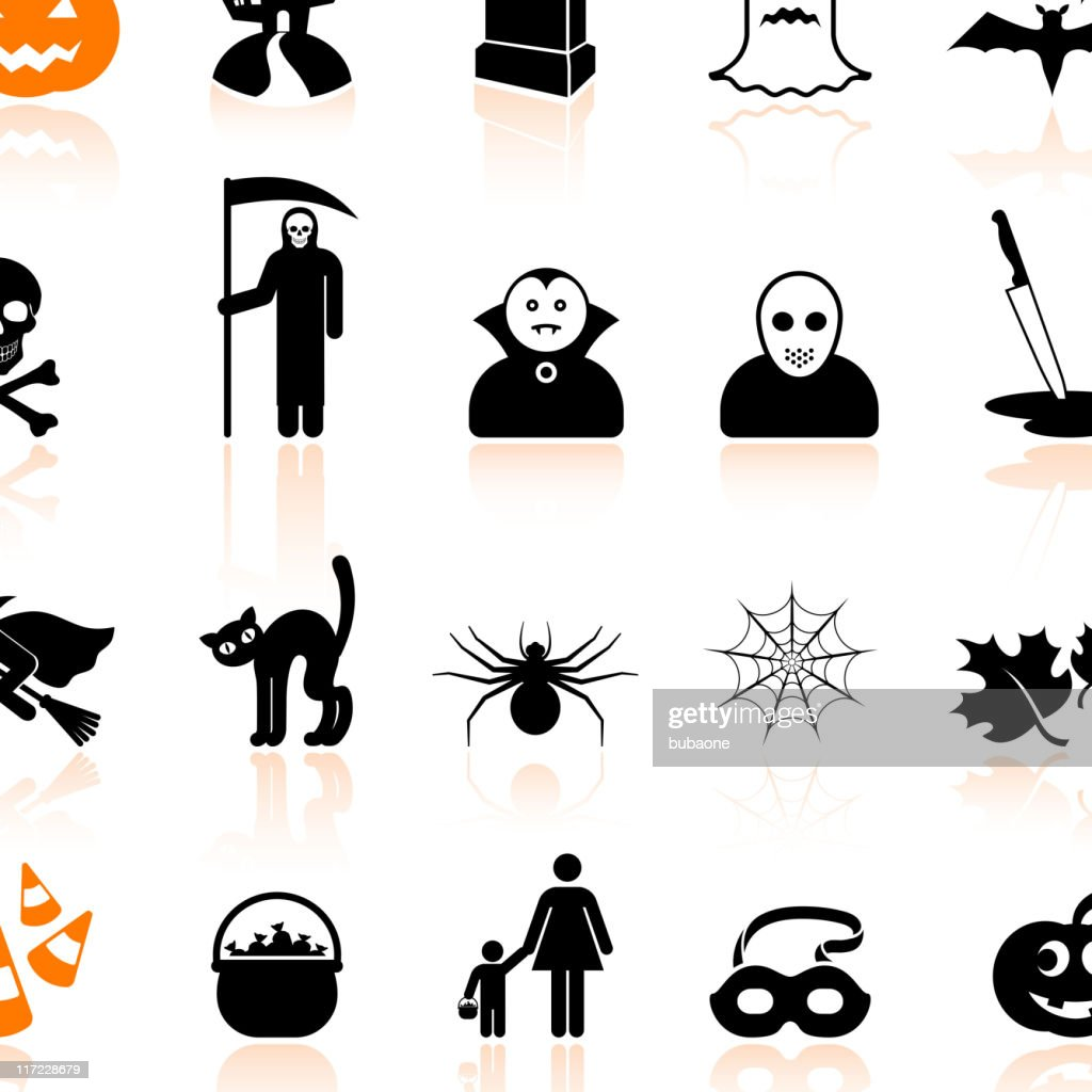 Halloween black and white royalty free vector arts