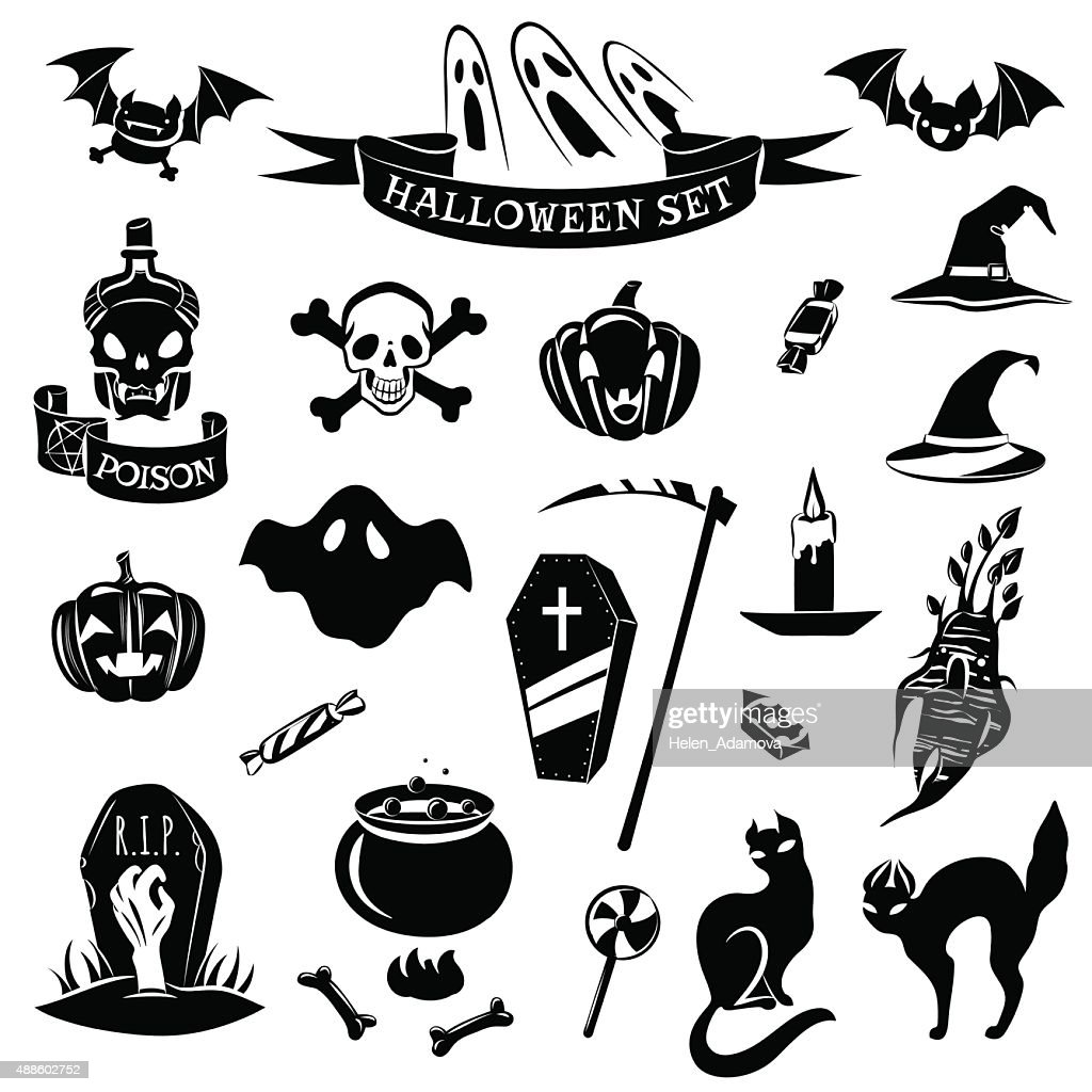 Halloween black set