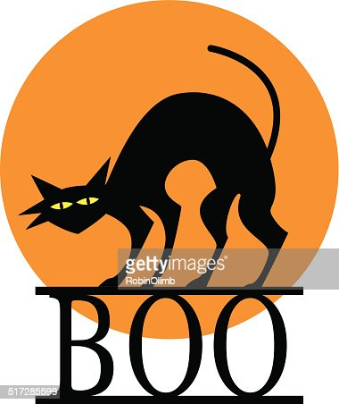 Halloween Boo Cat Vector Art | Getty Images