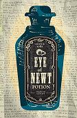 Hallowe'en bottle with Eye of Newt labels