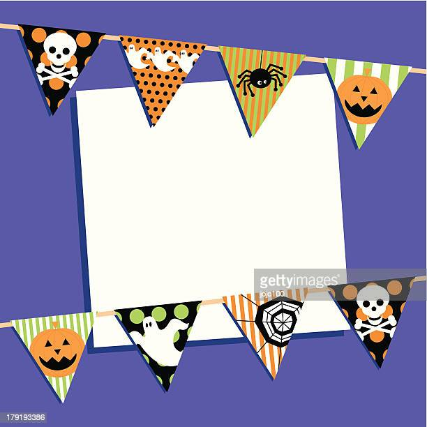 Halloween Bunting Invite with Copy Space