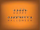 Halloween card design with semaphore code