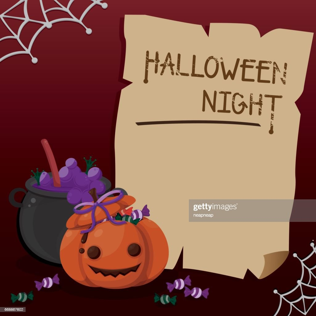 halloween card template vector art getty images