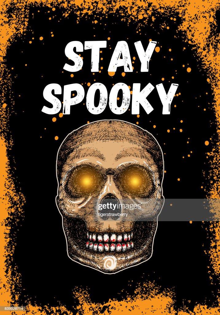 Halloweenkarte Typografie Und Kalligrafie Design Mit