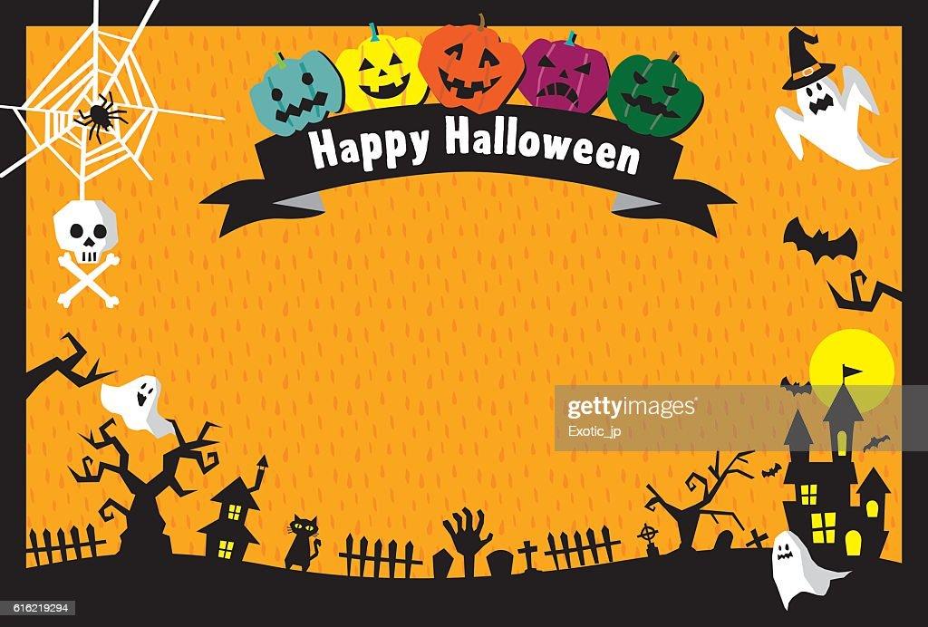 Halloween card : Vektorgrafik