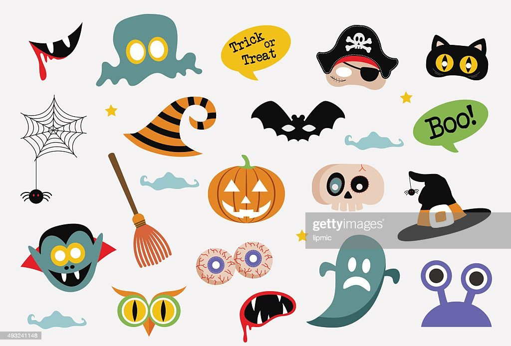 Halloween card with cartoon death. vector illustration