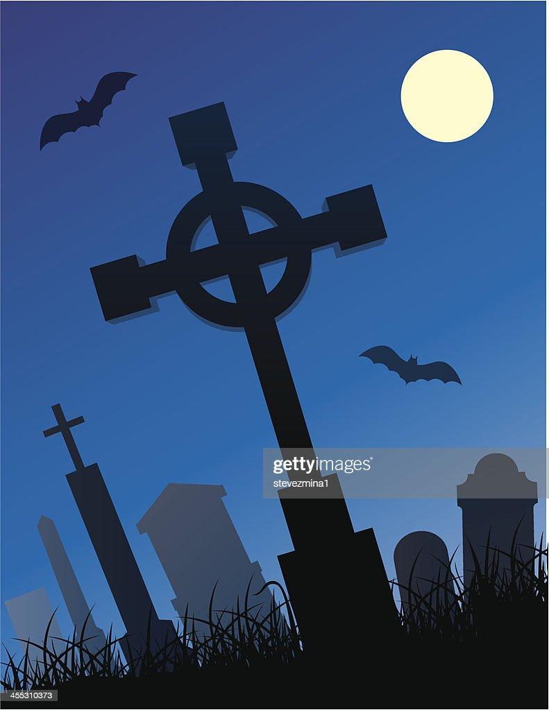 halloween cemetery vector art | getty images