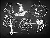 Halloween chalked collection.