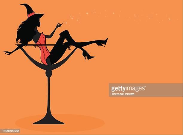 Halloween Cocktail-Mädchen