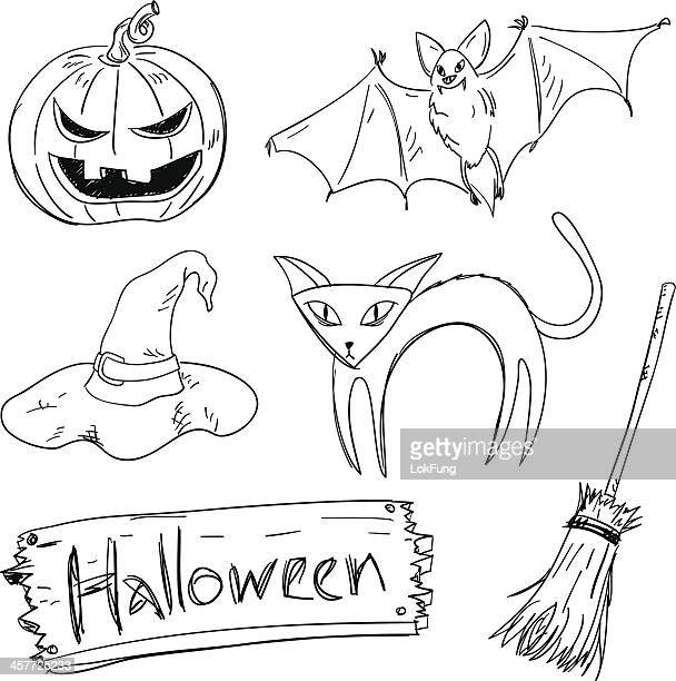 Halloween collection in Black and White