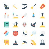 Halloween Colored Vector Icons 1