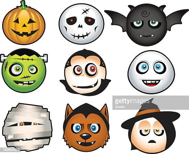 halloween costume icons cartoon - count dracula stock illustrations, clip art, cartoons, & icons