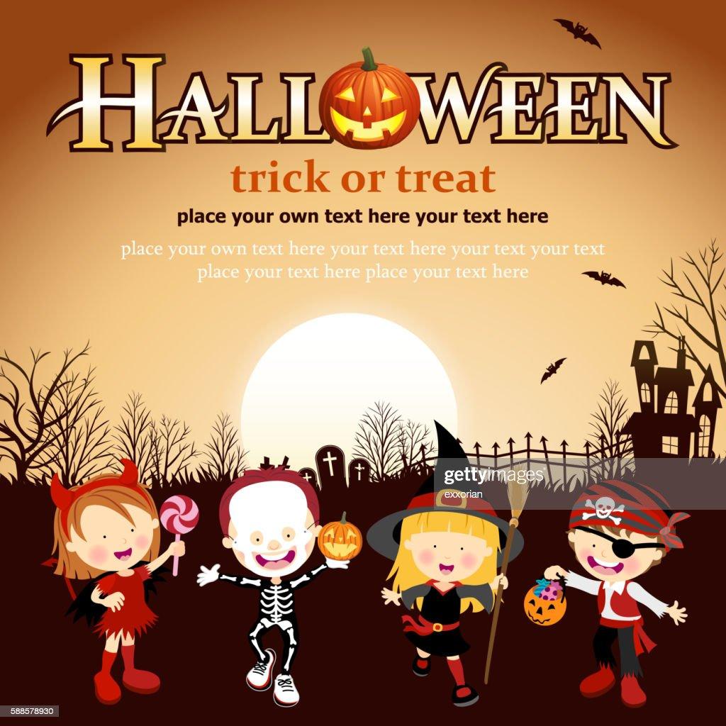 Halloween Costume Kids : stock illustration