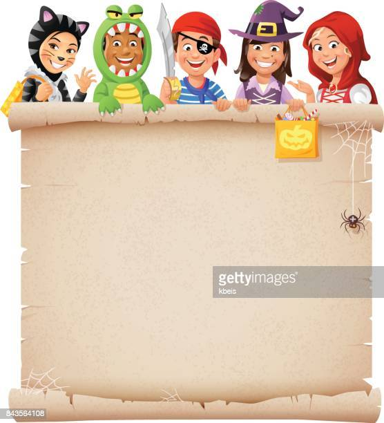 halloween costume party invitation - little red riding hood stock illustrations, clip art, cartoons, & icons