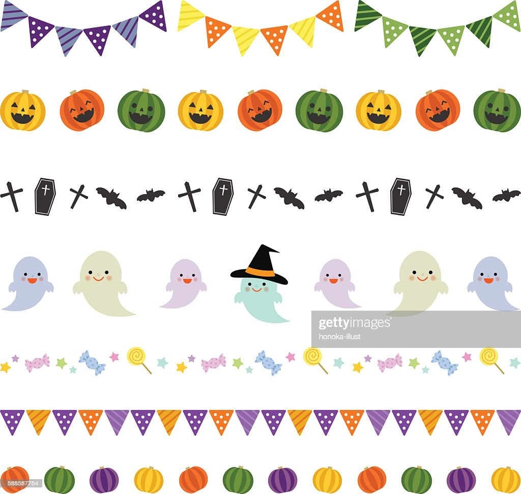 Halloween decorative borders