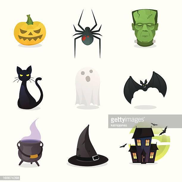 halloween design elements - frankenstein stock illustrations