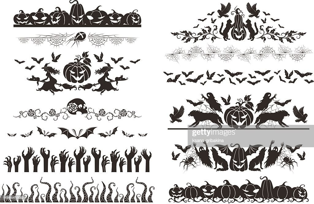 Halloween dividers collection
