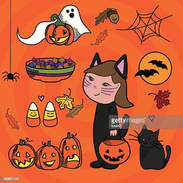 Halloween Doodle Elements