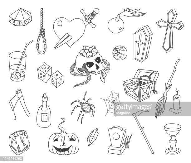 ハロウィン落書きセット - 安らかに眠れ点のイラスト素材/クリップアート素材/マンガ素材/アイコン素材