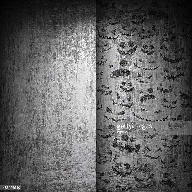 Halloween Faces on Grunge Background