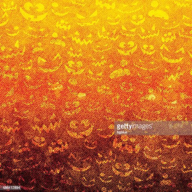 halloween faces on grunge canvas - halloween wallpaper stock illustrations