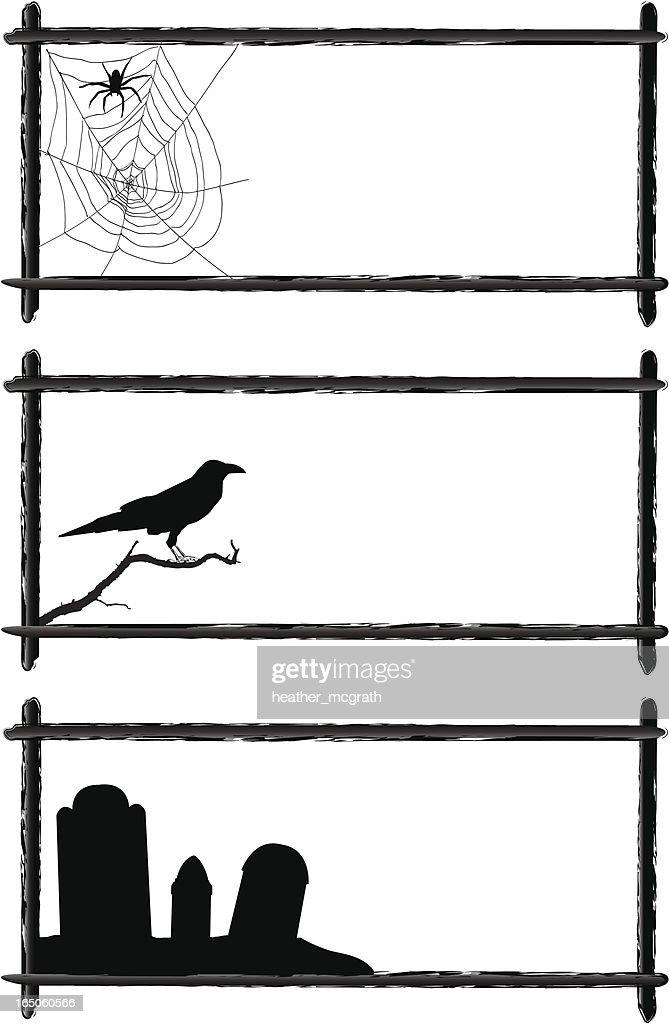 halloween frames vector art getty images