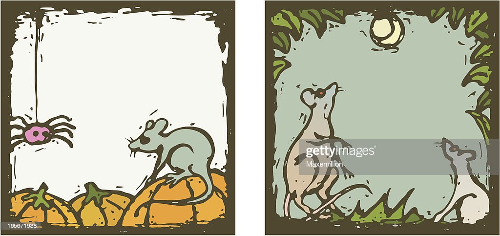 Halloween Frames With Mice And Rats Vector Art | Getty Images