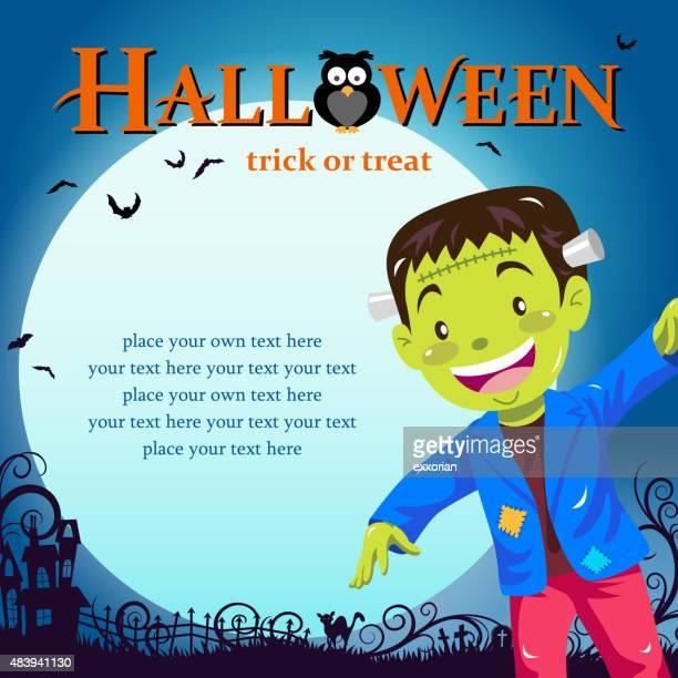 Halloween frankenstein trick or treat