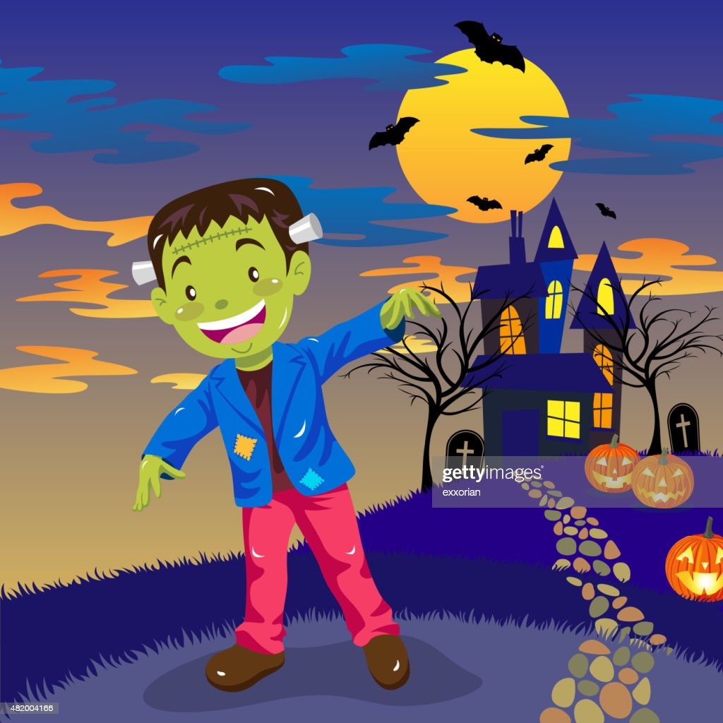 Halloween Frankenstein : stock illustration