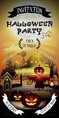 Halloween free entry invitation card for horror party on 31 october.
