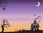 Halloween Fright Night Wide Background