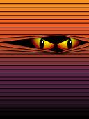 Halloween Ghost Eyes Hidden Stripes