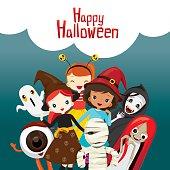 Halloween Ghosts and Children